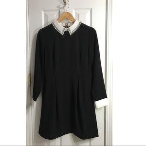 Ted Baker London Black Dress Beaded Collar size 3